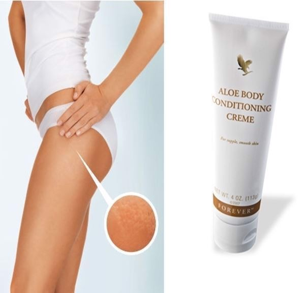 BODY CONDITIONING CELLULITE CREME, Cremen er et perfekt supplement til de øvrige præparat der indgår i Aloe Body Toning Kit