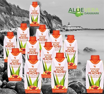 FOREVER ALOE PEACHES™- 330 ML 12-STK Aloe Vera drik med C-vitamin.